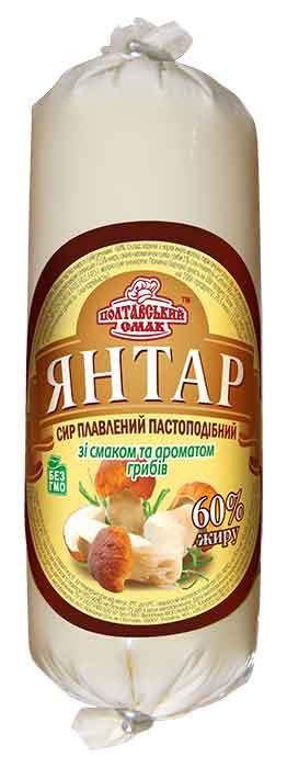 """Сыр плавленый пастообразный """"Янтарь"""" со вкусом и ароматом грибов"""