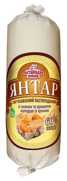 """Сыр плавленый пастообразный """"Янтарь"""" со вкусом и ароматом холодца с хреном"""