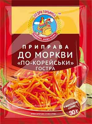 "Приправа до моркви ""по-корейськи"" гостра"