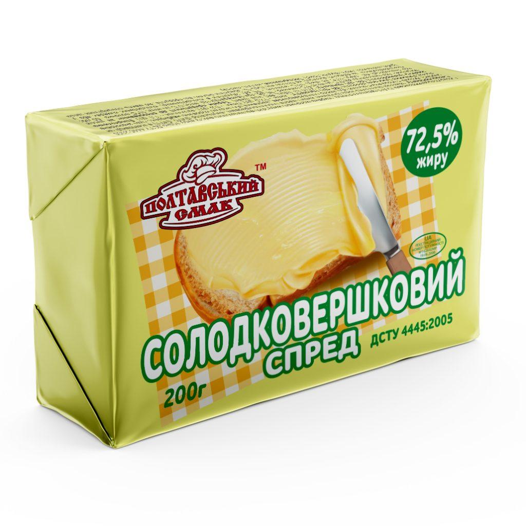 солодковершковий спред ТМ ПС пачка 200 г